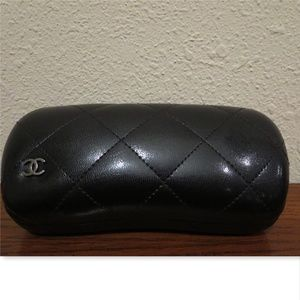 Authentic CHANEL quilted Sunglasses CASE only